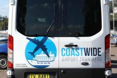 Coastwide Airport Transfers Sydney Cruise Ship Transfers, Central Station Transfers Sydney City Airport & Hotel Transport Ford Transit 1